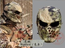 NEW Highlander Camouflage Wargame Paintball Mask Outdoor Army Full Face Airsoft Tactical Skull Masks Drop Shipping(China)
