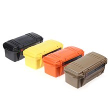 Colorful Outdoor Waterproof Box EDC Gear Storage Box Water Resistant Portable Outdoor Survival Case Strong Wearproof Useful Tool(China)