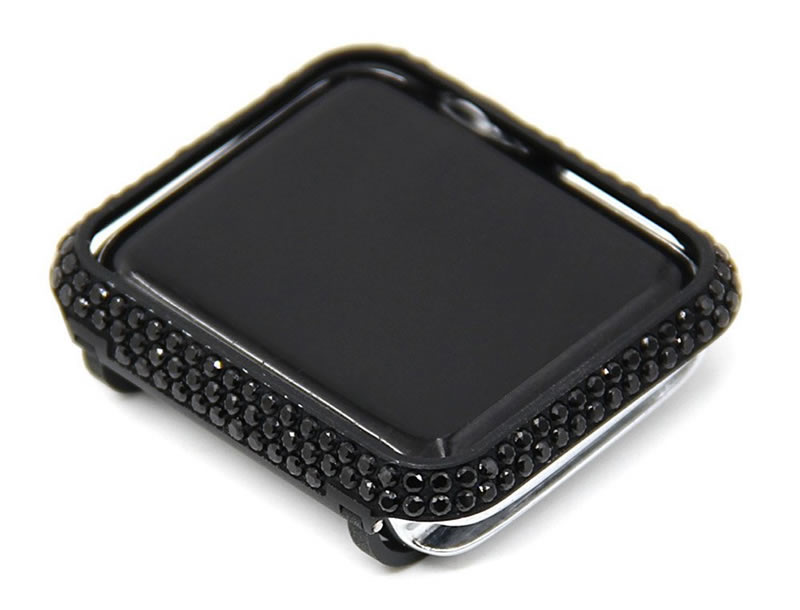 For Apple watch case Protective Shell Hand Made by Crystal Diamond Cover Style (9)
