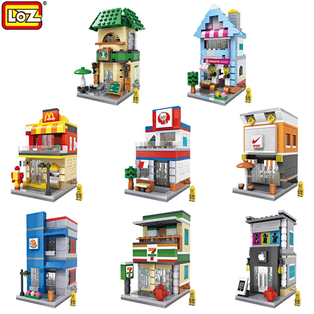 LOZ  NEW MINI Street Building Blocks DIY Assemble Creative Educational Toys Christmas Birthday Gifts For Children<br><br>Aliexpress
