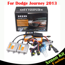 Cawanerl 55W Error Free HID Xenon Kit AC Canbus Ballast Lamp 3000K-8000K Car Headlight Low Beam For Dodge Journey 2013