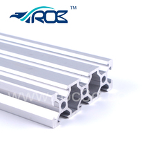 [SKU 260] V slot rail aluminum profile extrusion 2060 Price/meter clear anodized working with POM delrin v wheel(China)