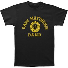 New Short Sleeve Round Collar Mens T Shirts Fashion 2017 Dave Matthews Band Men's College Logo Slim Fit T-shirt Black(China)