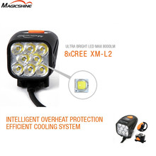 Magicshine MJ-908 MJ908 max. 8000 lumens 8 *CREE XM-L2 LED wireless remote switch with battery pack