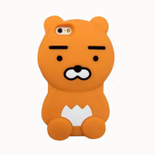 2017 Fashion korea forest animal cartoon monsters big beard bear joy doll soft silicone cell phones case For Iphone