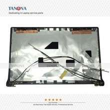 Original New For Dell For Studio 1555 1557 1558 (53) Top LCD Back Cover Lid W/hinges 07DCV3 Rubber Blue