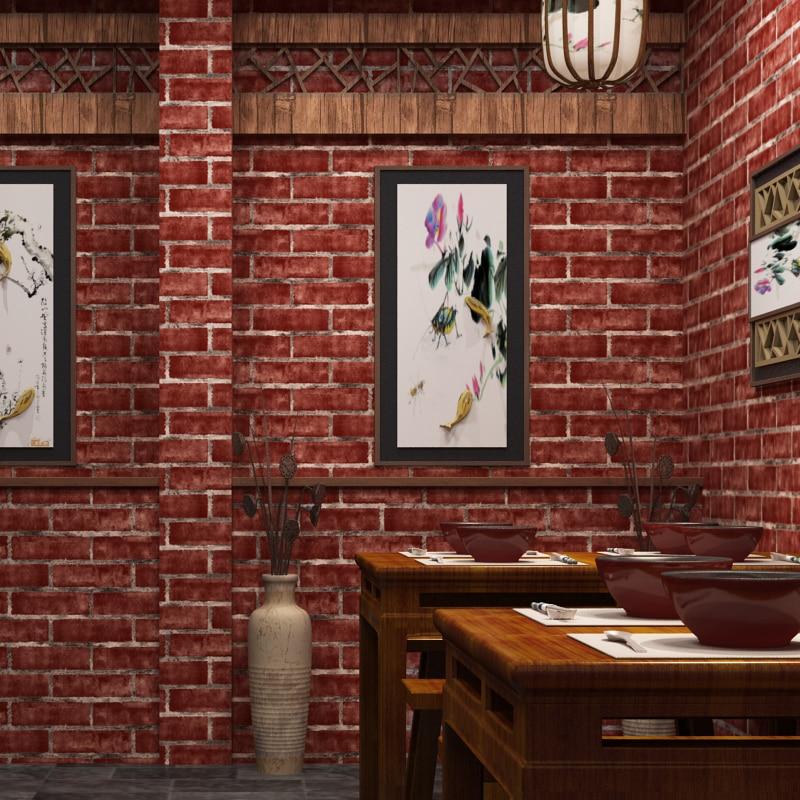 beibehang papel de parede 3d Chinese retro imitation brick PVC wallpaper restaurant clothing store hotel living room wallpaper<br>