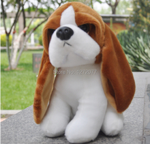 "7"" Basset Hound Dog Stuffed Plush Toy, Baby Kids Doll Gift Free Shipping"