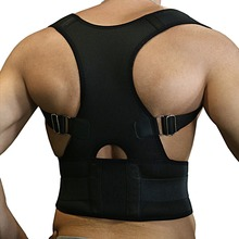 AOFEITE Back Support Correct Posture Adjustable Shoulder Belt and Velcro Relieves Neck Back and Spine Pain - Improves Posture