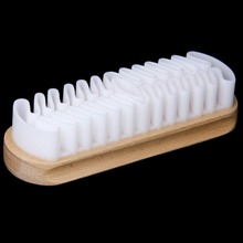 White Rubber Crepe Shoe Brush Leather Brush For Suede Boots Bags Scrubber Cleaner(China)