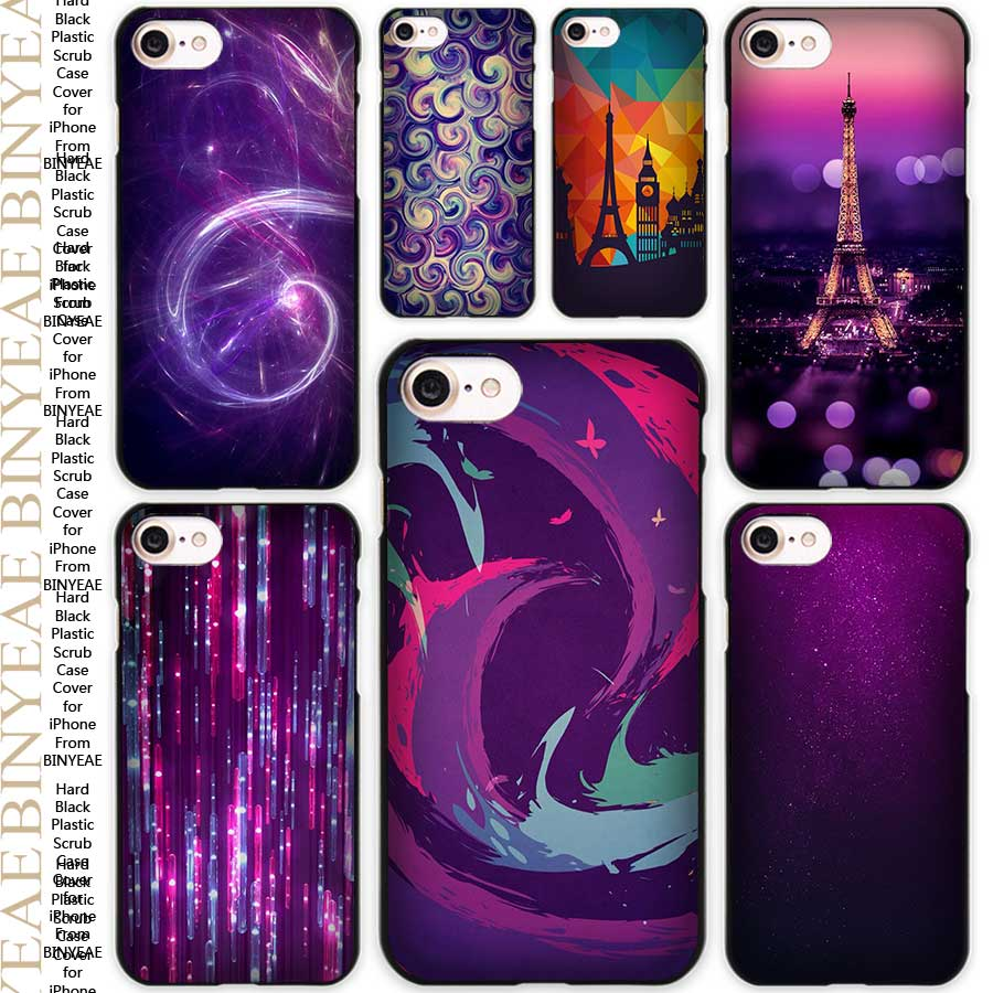 Dust In Purple Light Artistic Black Scrub Case Cover Shell for iPhone Apple 4 4s 5 5s SE 5c 6 6s 7 Plus(China (Mainland))