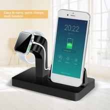 Onleny Best Portable 2 in 1 Charging Dock Charger Holder For iWatch For iPhone desktop Phone charging stand for Apple series(China)