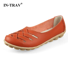 Women Sandals Summer Shoe 2017 New Female Fashion Split Leather Hollow Out Nurses Working Cow Muscle Gladiator Flats Shoes(China)
