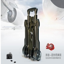 Mini aluminum alloy bar shopping cart folding portable luggage car home to buy a car