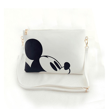 Women Fashion Messenger bags Minnie Mickey Envelope bags keys cell phone pocket shoulder bags