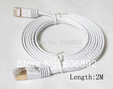 10pcs/lot 2M Network Cable Ethernet Cable Cat7 RJ45 M/M Thin High Speed Flat Shielded Twisted Pair Internet Lan