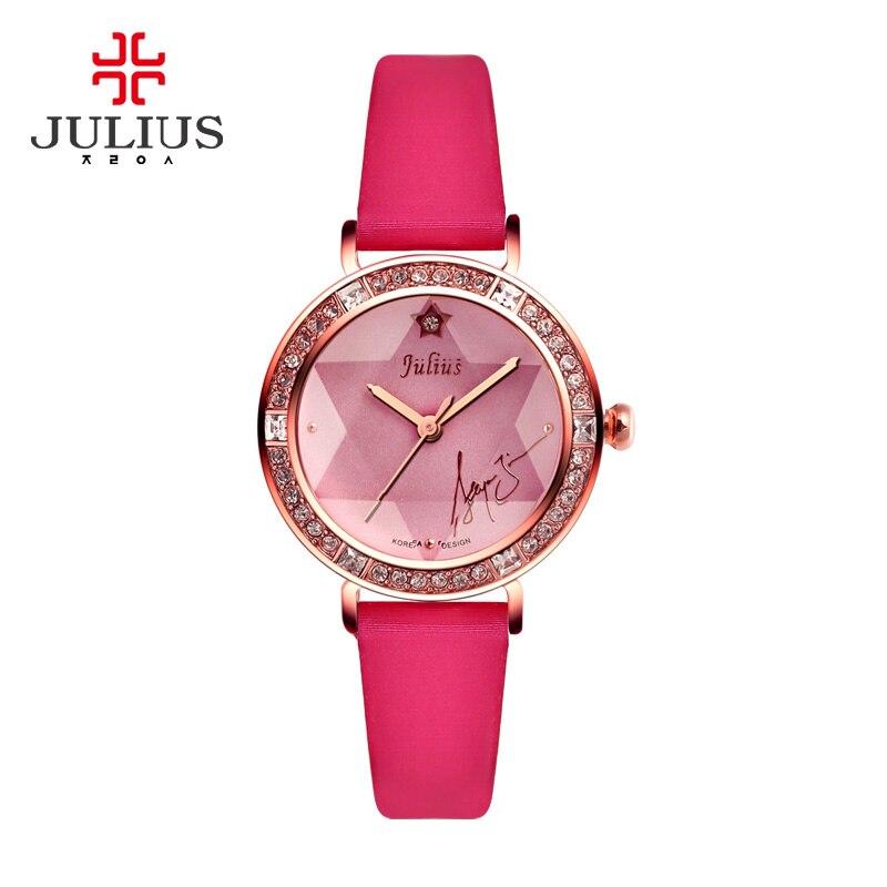 2017 JULIUS Brand Watches Women Genuine Leather Strap Reloj Mujer Luxury Dress Ladies Quartz Rose Gold Wrist Watch Montre Femme<br>