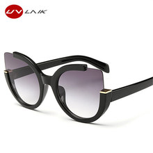 UVLAIK Cat Eye Sun Glasses For Women Oversized Ladies Sunglasses Women Brand Designer UV400 Goggles(China)
