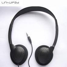 Linhuipad 3.5mm low cost disposable headsets stereo headphone for hospital fitness center 300pcs/lot