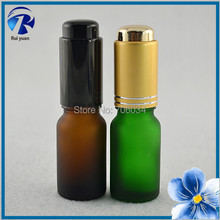 Glass Bottles for Pendants 10ml Wholesale Tiny Mini Painted Amber Brown Frosted Glass Bottles Electronic Cigarette Liquid Oils(China)