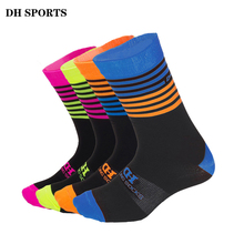 DH SPORTS Men Women Cycling Socks High Elasticity Outdoor Quality Wearproof Footwear For Road Bike Socks Mountain Bicycle Sock(China)