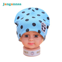 Cotton Dot Baby Hat Elastic Big Boys Beanies 2017 Girls Sun Caps Baby 6-18 Months Accessories Spring Autumn Baby Boys Clothing