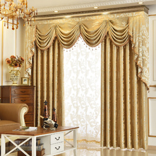 European Luxury Double Jacquard Valance and Curtain Customization Cortina For Living Room