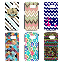 grid square design phone cases for Samsung Galaxy S3 S4/S4 Mini S5/S5 Mini S6/S6 edge S7/S7 edge case hard cover