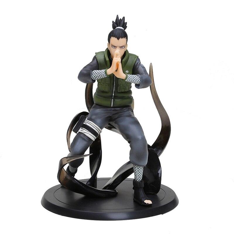 Anime Naruto Shippuden Action Figure 15cm Nara Shikamaru PVC Figures Toys Collectible Model Toy Dolls With Box<br><br>Aliexpress