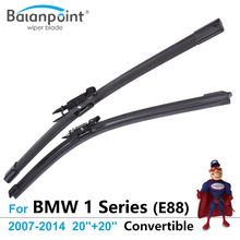 "Wiper Blades for BMW 1 Series (E88) Convertible 2007-2014 20""+20"", Set of 2, Best Auto Accessories"