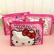 Girl's Hello Kitty Cosmetic Bags Cute Travel Makeup Organizer Case Beautician Beauty Suitcase Accessories make up bags
