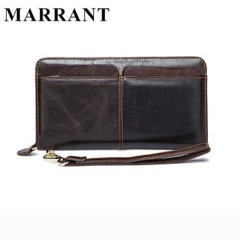 Marrant 100% carteiras de couro genuíno embreagem carteiras dos homens homens da moda venda quente de alta qualidade men bolsa couro sacos de mão de couro sacos de homens 9020