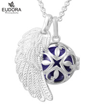 Angel Wing Flower Eudora Harmony Ball Angel Caller Sounds Bell Baby Rattle Pregnant Woman Long Chain Necklace Pendent Baby Gift(China)