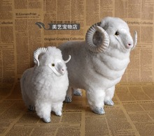 simulation white sheep model handicraft, plastic&fur goat toy ,home decoration toy Xmas gift w5944(China)