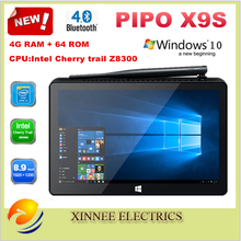 Мини-ПК pipo X9S Intel Cherry trail Z8350 Windows 10 OS 4 ГБ/64 ГБ 8,9 дюймов 1920*1200 разрешение WiFi BT4.0 HDMI Media Box(China)