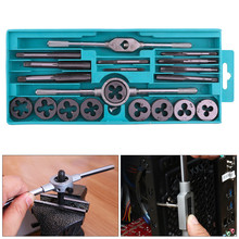 20pcs Alloy Steel Tap & Die Set with Small Tap Twisted Hand Tools and 1/16-1/2 Inch NC Screw Thread Plugs Taps Hand Screw Taps(China)