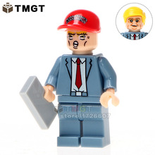 TMGT Building Blocks 20pcs/lot WM224 Donald John Trump With Red Color Hat Bricks Super Heroes Education Children Gifts Toys(China)