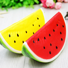 14CM Watermelon Squishy Super Slow Rising Phone Straps Bread Scent Soft Bun Charms Key Chain Food Collectibles Toys Simulation(China)