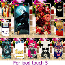 Soft TPU Plastic Painted Phone Cases For Apple iPod Touch 5 5th 5G Touch 6 6th 4.0 inch touch case Cover Phone Housing Shell