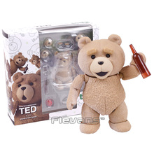 Movie Revo Series NO.006 TED 2 Teddy Bear PVC Action Figure Collectible Model Toy 9cm