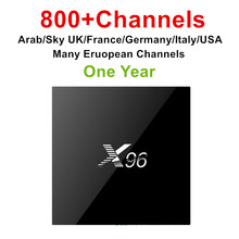 Europe Arabic IPTV X96 set top box channels account France Algeria Germany Turkey Italy UK Holland Greece 2+16G IPTV set top box