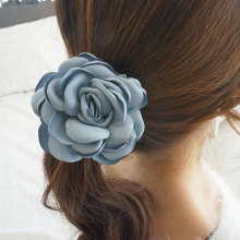 New Big Rose Flower Decor Elastic Hairband for Women 5 Colors Elegant Headband Women Hair Accessoires