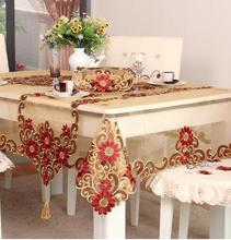 211#  square round voile embroidery hot sale embroidery house design tablecloth table mat table cover wholesale