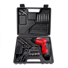 46pcs Electric Screwdriver Kits Cordless Design Rechargeable Battery Screwdriver Parafusadeira Furadeira Drill Power Tools(China)