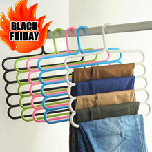 1Pc Multi-Purpose Five-layer Pants Hanger Tie Towels Clothes Rack Space Saving Home Organization(China)