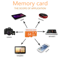 Tablet Smartphone Orange Micro TF card 16GB 32GB class 6-10 with Free Card Reader Real Capacity Memory Card T4card reader(China)