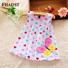 FHADST 2017 Cute Vestido infantil Baby Girl Dress Cotton Regular Sleeveless Dresses Casual Clothing Minin Princess 3-12 Months(China)