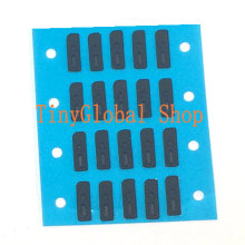 50pcs/lot Inner Anti Dust Grill Mesh Net With Rubber Gasket Adhesive Glue For Ear Speaker Earpiece of iPhone 5 5C 5S 5G