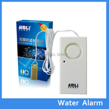 Wireless Water Overflow Leakage Alarm Sensor Detector 130dB Alarm Voice Work Alone Water Level Alarm Home Security Alarm System