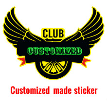 Professional customized make car sticker,Auto clubs car styling stickers and decals,wholesale free design,advertisement design(China)